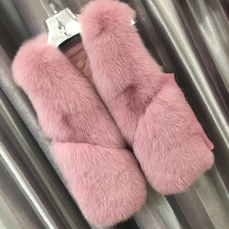 Vraiment Dames caramel Fxfurs Femmes Court milk De Pink Fourrure Détachable Manteau Renard Tea Hiver Conception Réel grey wYRUS8qRnB
