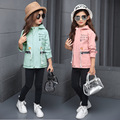 New Girls Coats 2017 Hoodies Children Cotton Windbreaker Coat Long During Spring Autumn Outfit Children'S Wear Coat 4-12 Years