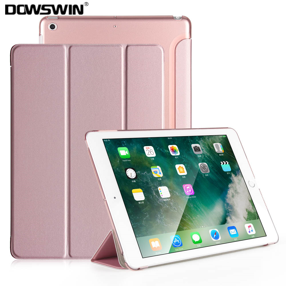 DOWSWIN Case For iPad 9.7 2018, for new ipad 9.7 2017 smart cover PU leather case for iPad 6th Generation For iPad 2018 Case