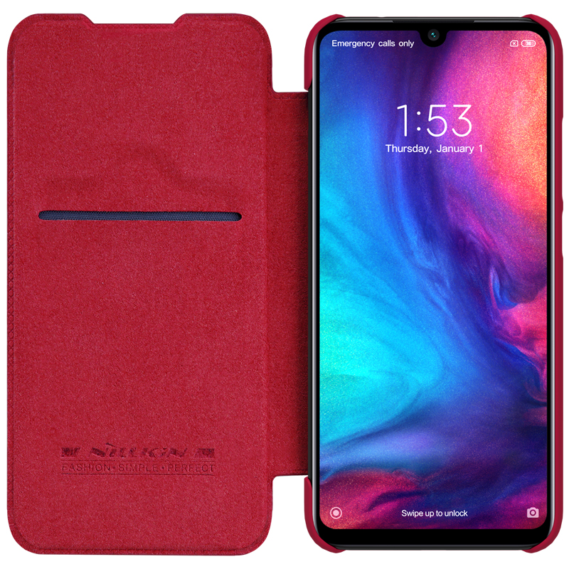 For Xiaomi Redmi Note 8 Pro Leather Case NILLKIN QIN Flip Cover for Redmi Note 8 7 pro global Case Wallet Cover With Card Pocket