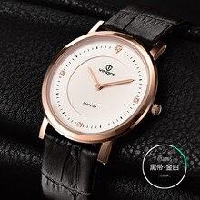 2017 Luxury Men's Watch Fashion Quartz-watch Waterproof Man Watches VINOCE Brand Relojes Hombre Leather Relogios masculinos