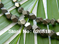 Wholesale  natural stand 7 -8mm pyrite faceted freeform spacer loose beads stones