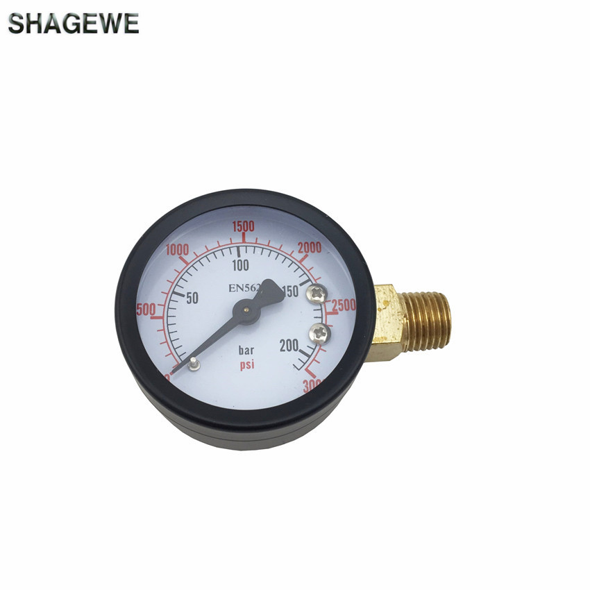 High Pressure Replacement Gauge, 0 - 3000 PSI, Home brewing Co2 Regulator Gauge