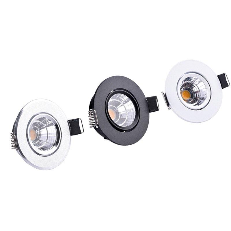 3 w 5 led holofotes mini led luzes de teto para baixo AC85-265V lâmpadas embutidas para gabinete contador vitrine iluminação doméstica