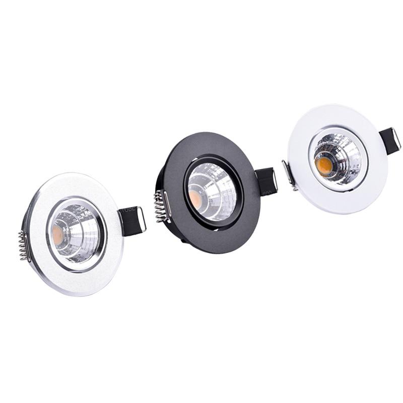 3W 5W LED Spotlights Mini led ceiling Down lights AC85-265V Recessed Light bulbs for cabinet counter showcase Home lighting