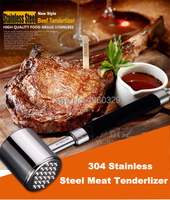 European Novelty Cooking Tools 304Stainless Steel Needle Meat Steak Tenderizer Two sided Hammer Kitchen Utensil Tools Accessory
