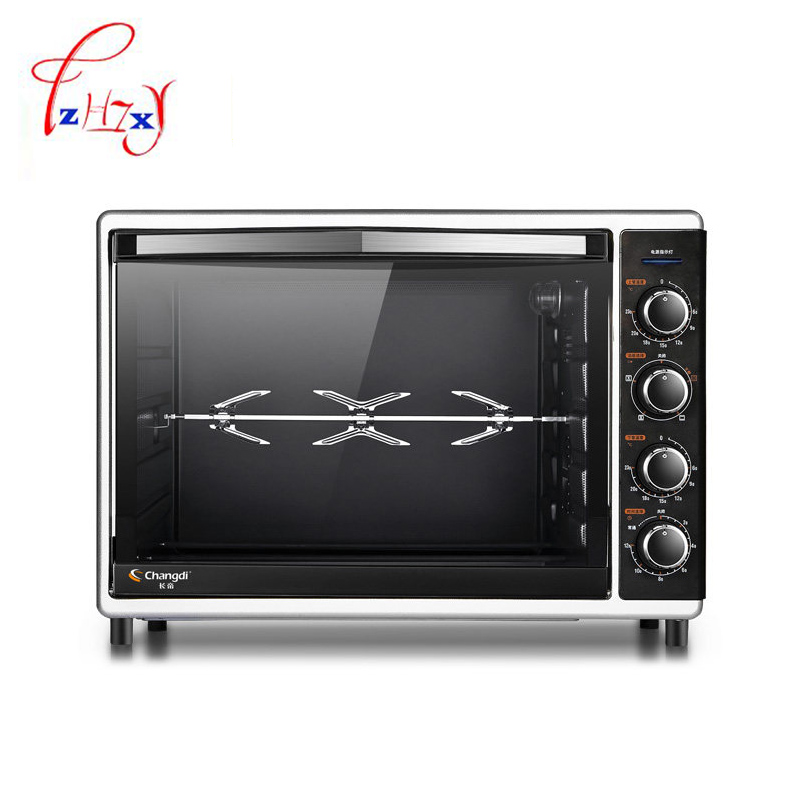 Home Use Electric Oven 52L Large Capacity 2000w Professional Multifunction Cooking Machine pizza bread oven machine CRTF52W 1pc salter air fryer home high capacity multifunction no smoke chicken wings fries machine intelligent electric fryer