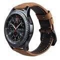 V-moro genuina correa de cuero para s3 reemplazo de smart watch band reloj pulsera para el engranaje engranaje s3 classic frontera smart watch