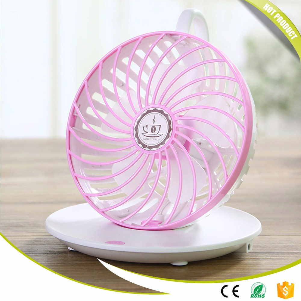 Coffee Cup Designed Portable Mini Fan 90 Degree Rotary Speed Control Usb Desk Fan Wall Hanging Electric Air Blower Fans xgreeo portable 90