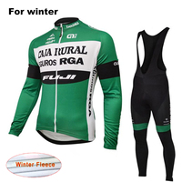 ALE Thermal Fleece Team Men S Cycling Jersey Set With Bib Pants Winter Long Sleeves Outdoor