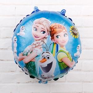 Image 5 - 60 sztuk 18 cal Elsa Anna z balonów foliowych mrożone królowa księżniczka ballon dekoracja urodzinowa przybory dla niemowląt zabawki dla dzieci