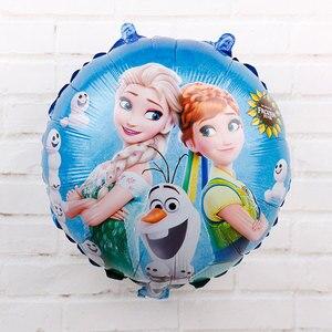 Image 5 - 60Pcs 18นิ้วElsa Annaฟอยล์บอลลูนแช่แข็งQueen Princessบอลลูนวันเกิดตกแต่งเด็กทารกอุปกรณ์ของเล่นเด็ก