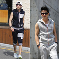 Mens hoodies and sweatshirts Track suit men set sleeveless sporting set with a hooded cardigan casual sweatshirt