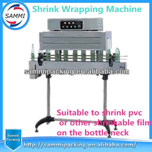 Cap Shrink Tunnel For Neck Of Bottle , Shrink Packing Machine For Bottle Cap