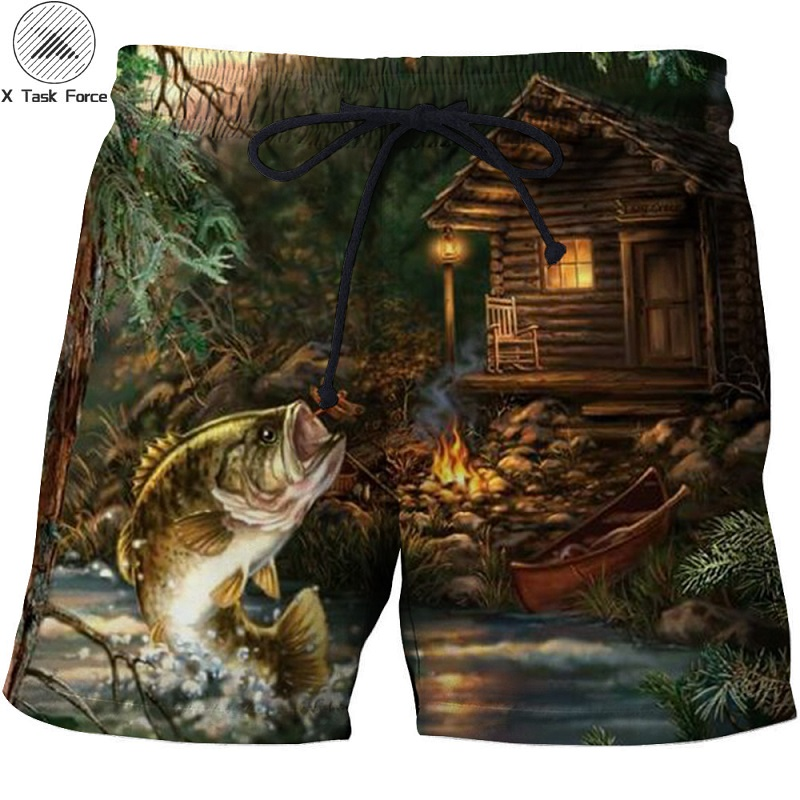 Summer Men Beach Shorts 2017 Punisher 3D Print Fish Fashion Men's Bermuda Boardshorts Fitness Trousers Plus Size 6XL Quick Dry