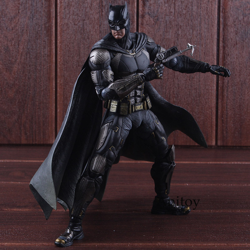 DC Comics Justice League No.1 Batman Tactical Suit Ver. PVC Play Arts Kai Batman Action Figures Toys Collectible Model Toy 25cm xinduplan dc comics play arts kai justice league movie joker batman movable action figure toys 27cm kids collection model 0276