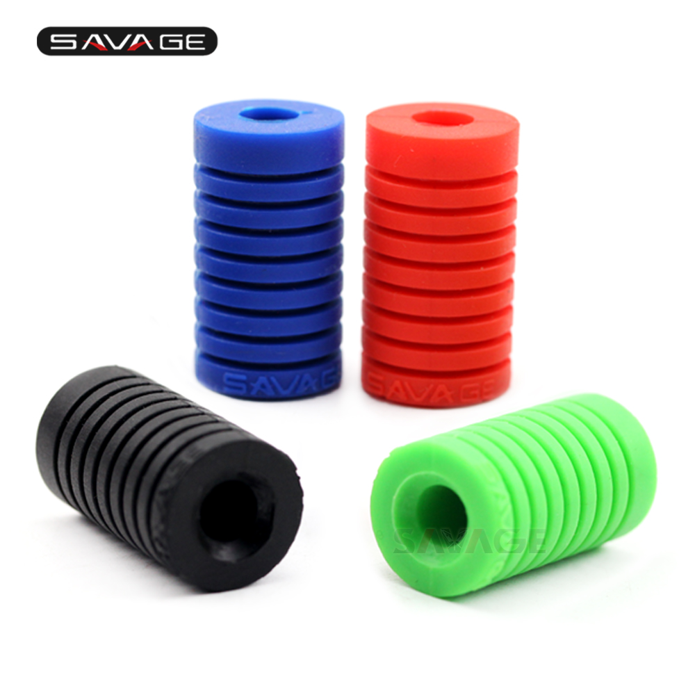 Motorcycle-Accessories Peg-Cover Foot-Pad Pedal-Toe Universal Lever Silica-Gel Red/green