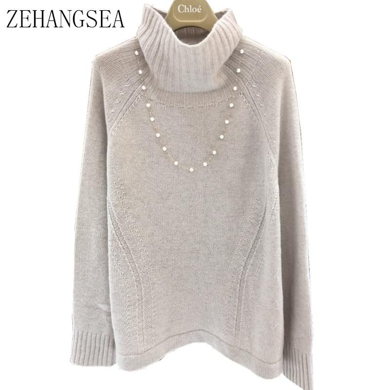 197329117713d6 ZEHANGSEA-Inverno-18-delle-nuove-donne -di-cashmere-maglione-a-collo-alto-di-colore-solido-allentato.jpg