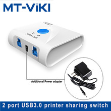 MT-VIKI 2 port USB3.0 HUB sharing switcher  Free shipping high speed in 1 out usb3.0 printer switch MT-SW321