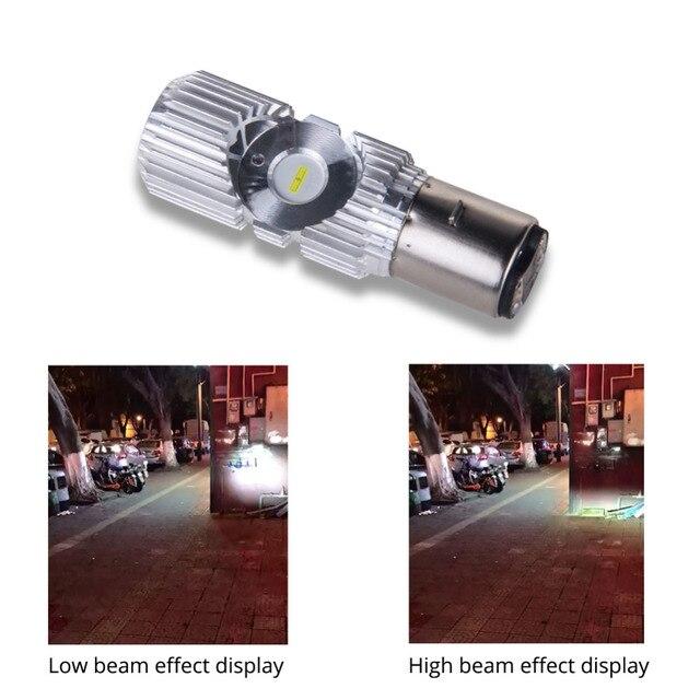 VooVoo-ampoule à Led pour motos, phare antibrouillard, H4 HS1 H6 BA20D, lampe Hi Lo, accessoires de Scooter, 20W, 2400lm