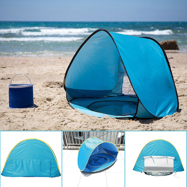 Children's Tent Baby Beach Tent UV-protecting Sunshelter with Pool Waterproof Pop up Awning Tent Kids Outdoor Camping Sunshade