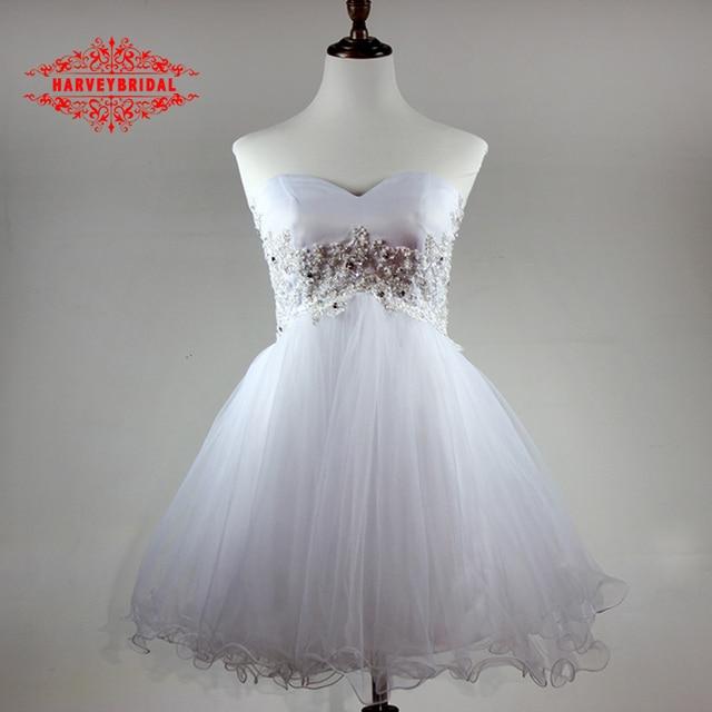 Vestidos Blancos Cortos Para Ninas Elegantes Vestidos De Noche
