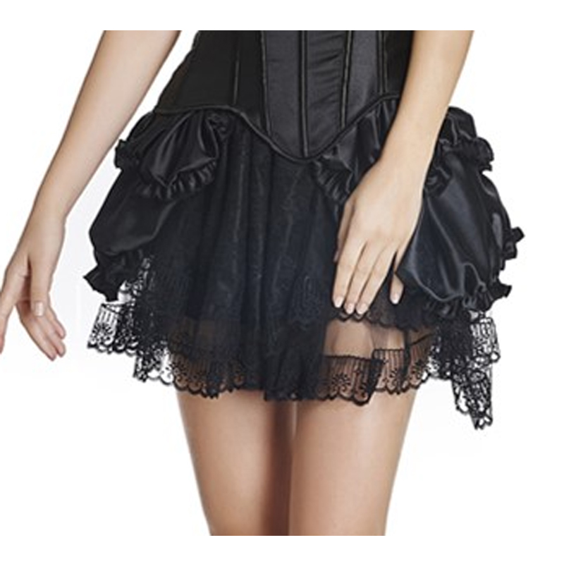 MOONIGHT Black Red Fashion Sexy Women Tutu Skirt Natural Mini Skirt Womens Short Skirt with Lace