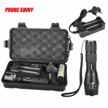 B2 Flashlight Bright 5000LM X800 T6 LED 18650 3.7v 5Mode UK Charger Torch Lamp G700 Light Kit Waterproof Zoom Bicycle Light
