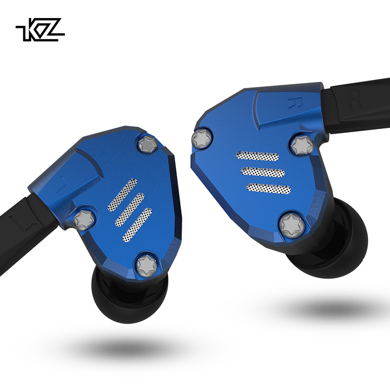 KZ ZS7 Earphones 4BA+1DD Hybrid In Ear Headphone HIFI Bass Headset DJ Monitor Ea