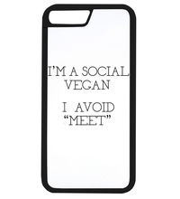 "I'm a Social Vegan, I avoid ""Meet"" cover for iPhone 4 4S 5 5S Se 5C 6 6 plus 6s 6s plus 7 7 plus"