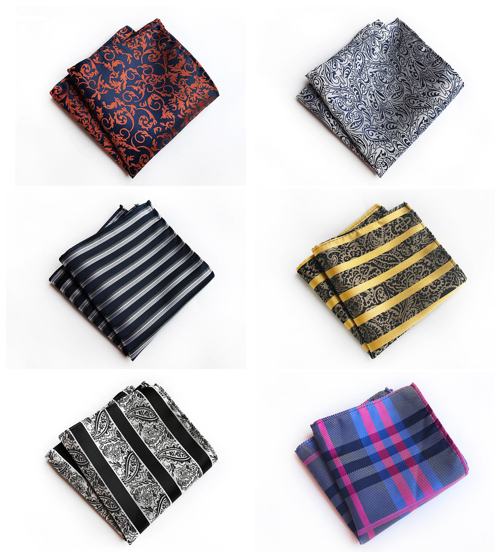 High-end Design Business Men's High Quality Decorative Handkerchief Pocket Towel Fashion Quality Polyester Paisley Pocket Towel