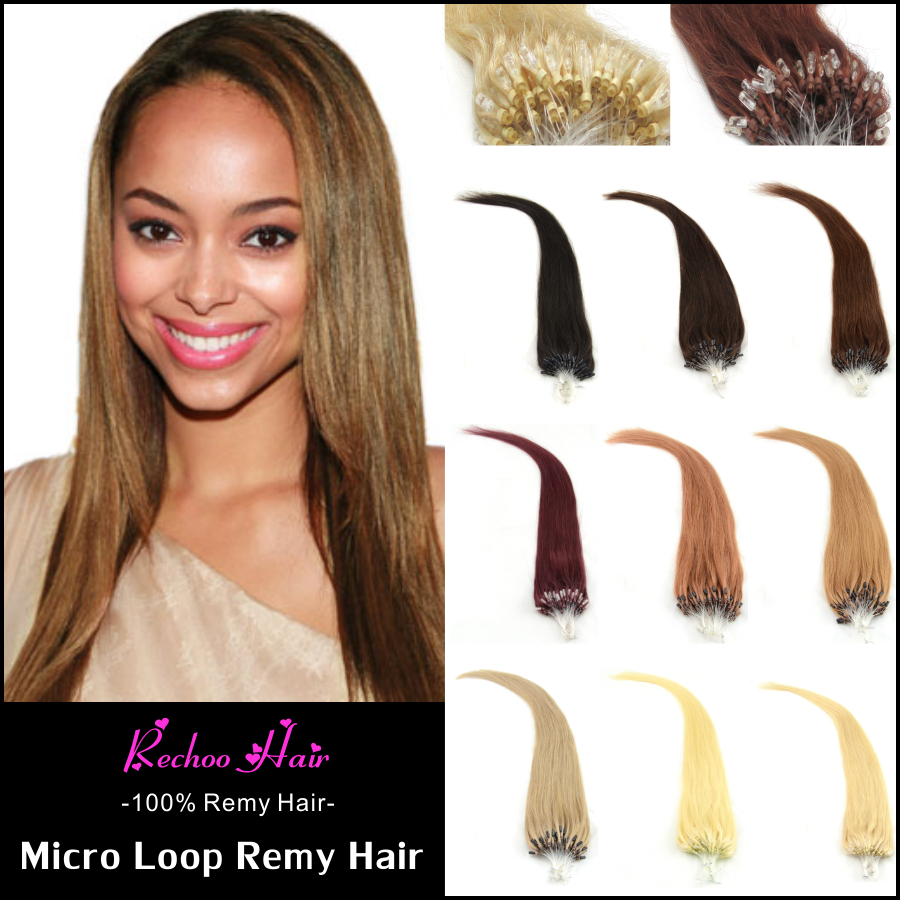 1grams 200 Strand Micro Loop Hair Extensions 22 Inch Micro Ring