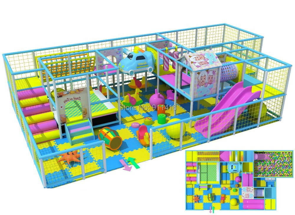 Naughty castleindoor playground equipment with tr&oline bed and big ball pit CIT I1207-in Playground from Sports u0026 Entertainment on Aliexpress.com ...  sc 1 st  AliExpress.com & Naughty castleindoor playground equipment with trampoline bed and ...