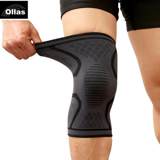1PC Fitness Running Cycling Knee Support Braces Elastic Nylon Sports safety Compression Knee Pad Sleeve Basketball Volleyball