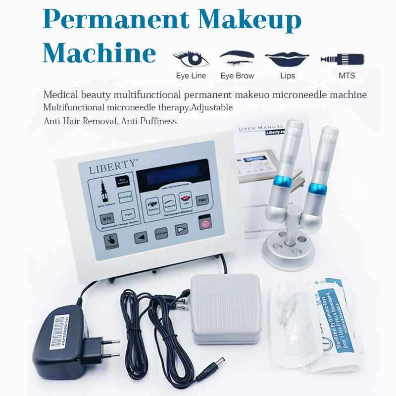 Hot Professional Permanent Makeup machine Liberty Tattoo Machine Digital dermographe maquillage foot switch Cosmetic tattoo kit