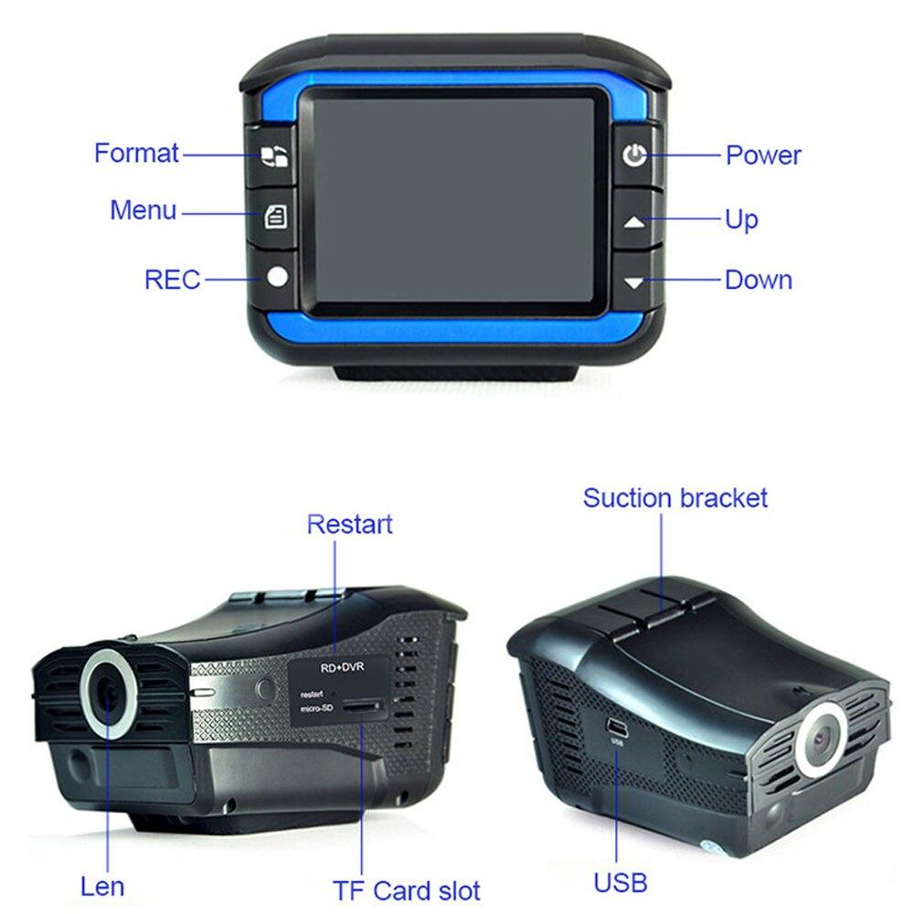 3 in 1 english russian car Radar Detectors in Radar Detectors from Automobiles Motorcycles