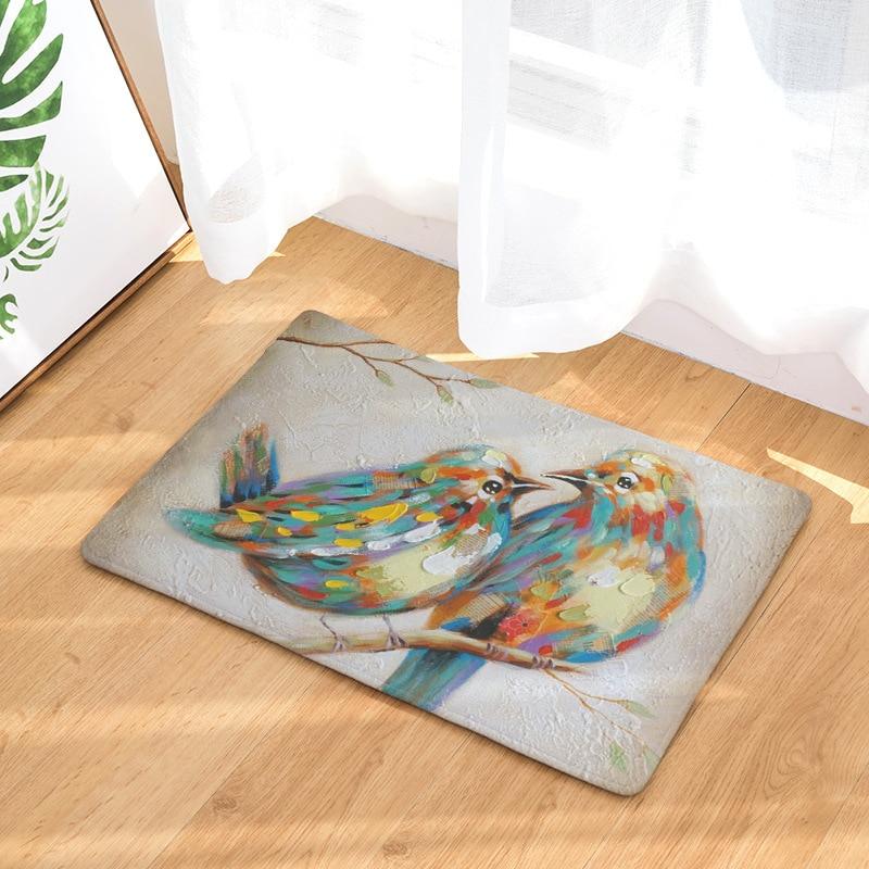 Красивые Товары для птиц с принтом павлина Коврики передней двери Коврики для Ванная комната Кухня детская комната, tapetes Para Casa сала, alfombras