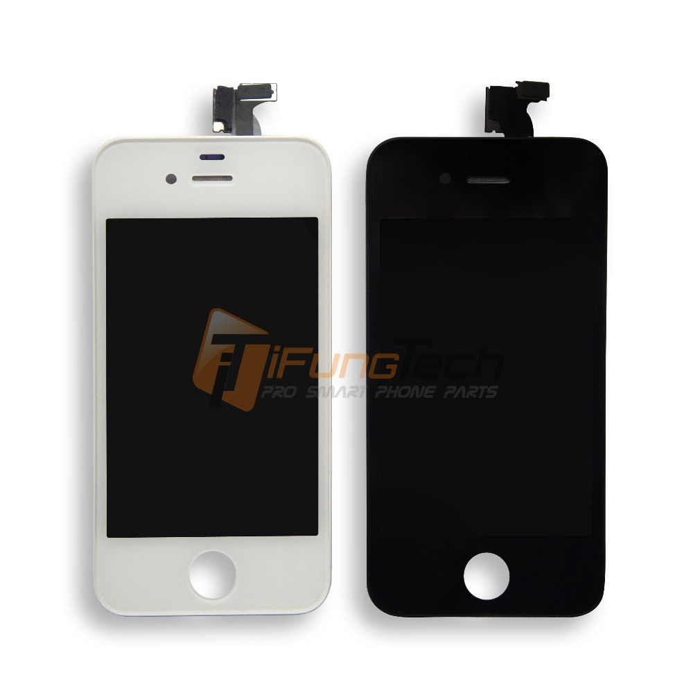 Best Quality AAA LCD Black/White For iPhone 4 4G 4S LCD Screen Assembly Digitizer Display Replacement With Touch Free Shipping lcd screen assembly for apple iphone 4 4g lcd display touch screen digitizer pantalla with frame bezel replacement black white