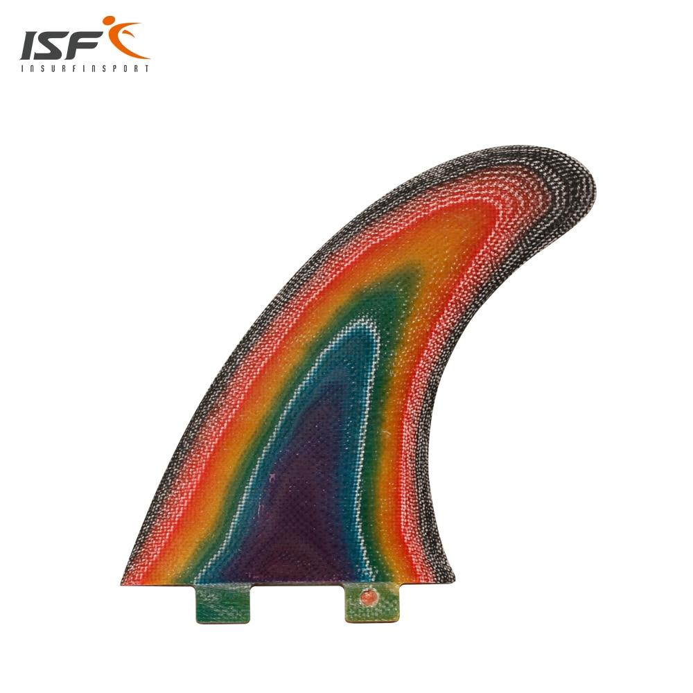 Freies Verschiffen FCS surf finnen multicolor fiberglas longboard flossen ruder pranchas de surf SUP flossen