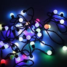 IWHD 5 м светодиодный Рождественские светильник s светодиодный 110/220V ватным тампоном светильник светодиодный на солнечных батареях Фея Рождество светильник уличный Luces Decoratives DE Navidad