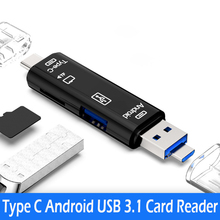 All In 1 Usb 3.1 Card Reader High Speed SD TF Micro SD Card Reader Type C USB C Micro USB Memory OTG Card Reader amzdeal wholesale 10pcs lot usb otg card reader universal micro usb otg tf sd card reader usb memory card adapter reader