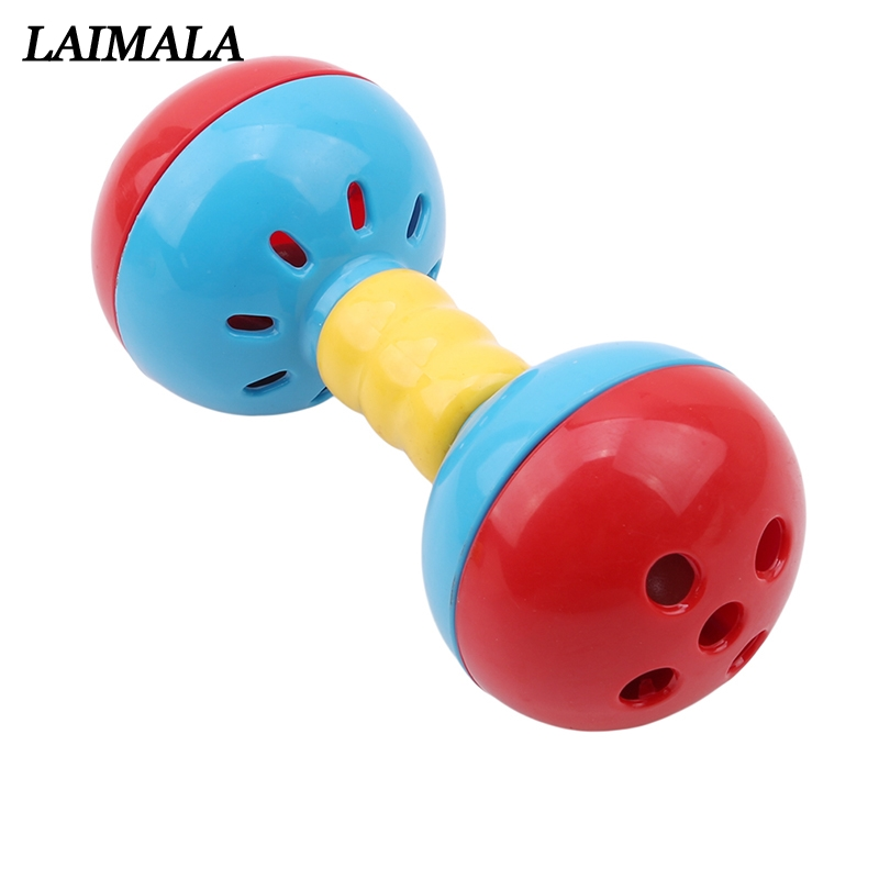 Baby Toy Rattles Bell Musical Hand Shaking Dumbells Early Development Toys 0-12M