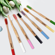 Hot 1pcs Bamboo Toothbrush Double Ultra Soft Wooden Handle Bamboo Toothbrushes Oral Care Soft Bristle Head for Adults Wholesale