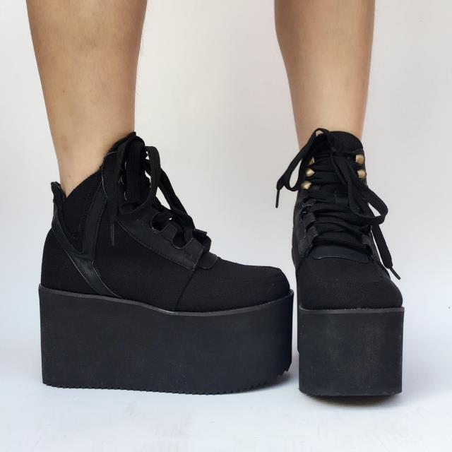 Princess sweet punk shoes Handmade short boots muffins thick sole shoes customized sports shoes climbing legs women an5215Princess sweet punk shoes Handmade short boots muffins thick sole shoes customized sports shoes climbing legs women an5215
