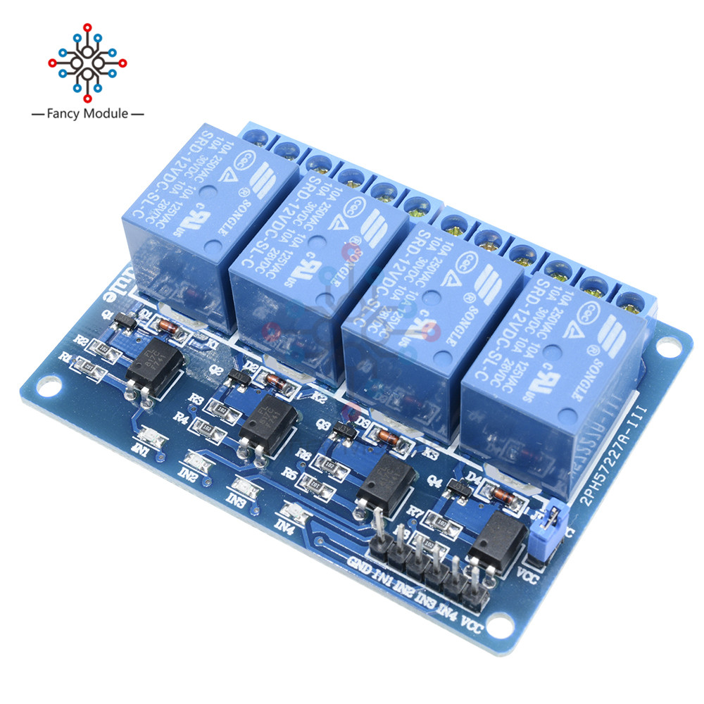 12V 4-Channel Relay Module Switch Board for Arduino PIC ARM AVR