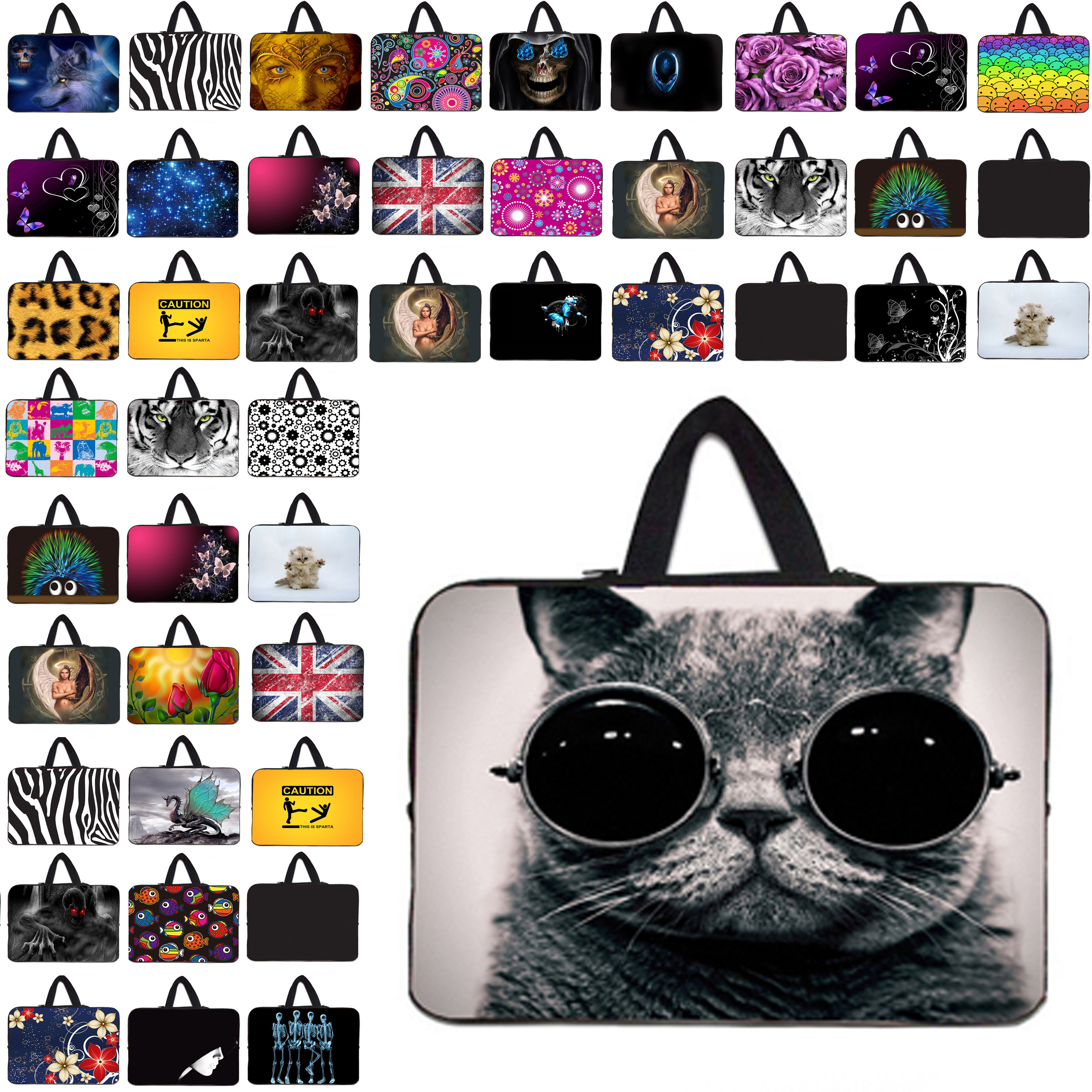 For Samsung Macbook Dell Lenovo Laptop Bag 12 13 14 15 17 inch Handle Sleeve Cases 10 7 13.3 11.6 7.9 inch Neoprene Soft Bags