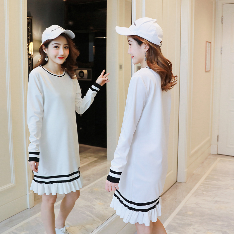 f99ea8738ee1e Aliexpress.com : Buy Formal Maternity Clothes Pregnancy Dress Spring Autumn  Loose Maternity Clothing Of Pregnant Women Premama Vestidos White from  Reliable ...
