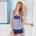Lounge set summer stripe sexy  sexy sweet sleeveless sleepwear pure cotton vest shorts 2016 Free Delivery