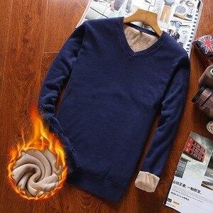 Image 5 - Varsanol איש סוודר כותנה ארוך שרוול סוודרים סרוגים גברים V צוואר סוודר חולצות סריגים פסים Slim Fit סוודרים חמים חדש