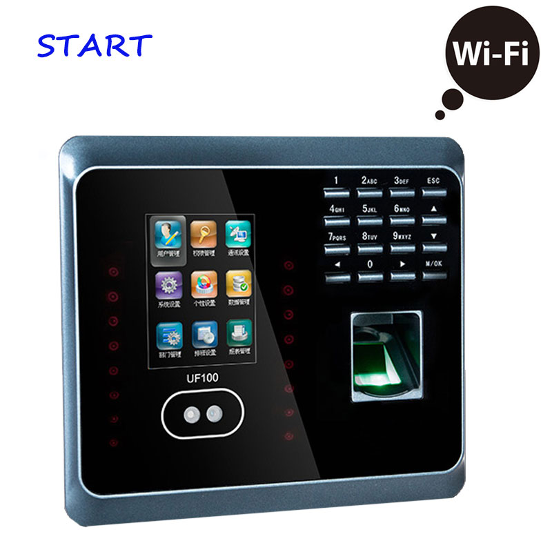 WIFI RFID Facial Fingerprint Employee Time Attendance Advanced ZK Time Recording UF100 Facial Fingerprint Employee Time Atte